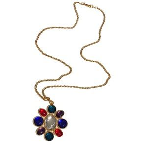 Bonnie J Gold-Tone Pendant Necklace